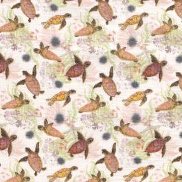Musselin Gemustert «Schildkröten»