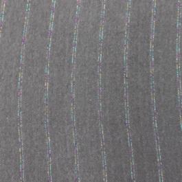 Feinstrick Bündchen «Dunkelgrau Streifen Multicolor»
